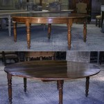 sold28 19c circular walnut table to seat 8-10