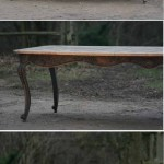 sold82 large French oak provincial table in the style of Louis XV